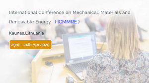 2020 International Conference on Mechanical, Materials and Renewable Energy